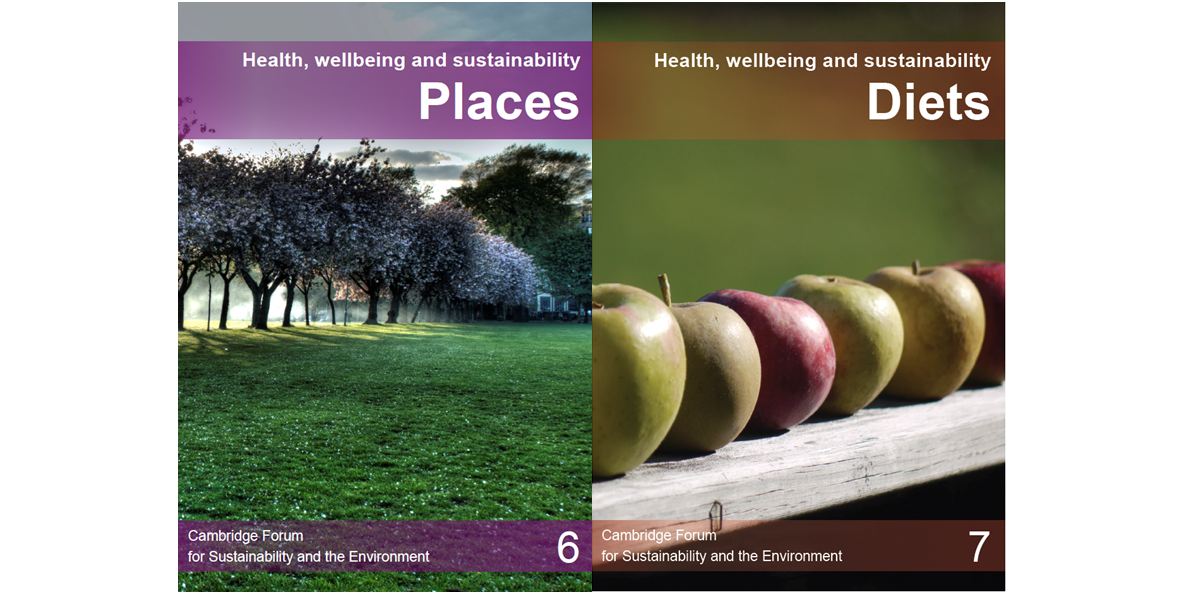 Health and wellbeing - places and diets covers