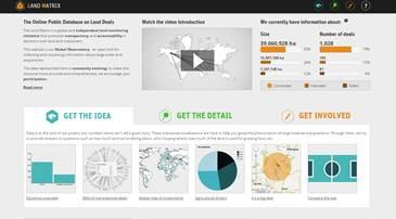 Land Matrix website screenshot