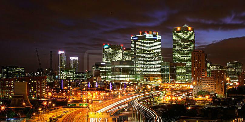 London roads at night - banner