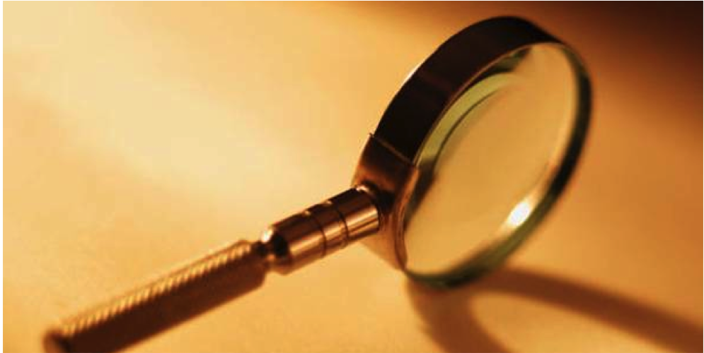 Magnifying glass - banner