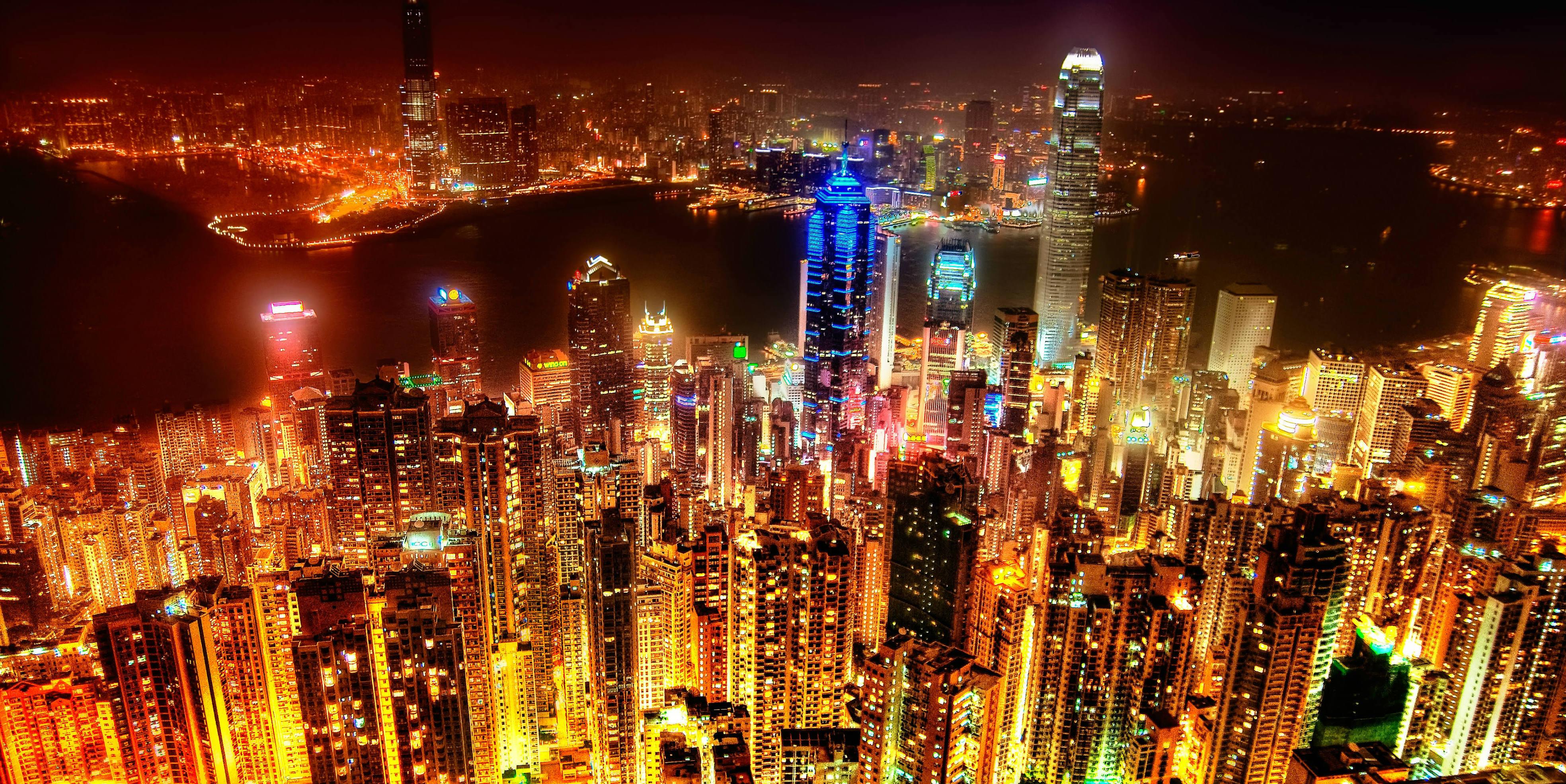 Hong Kong skyline by Spreng Ben